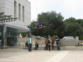 X-3D-BL electric hover used at CIS as a robotic platform for 3D navigation research