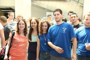 Students and faculty at CS end-of-year fest