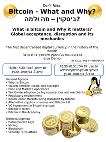 Haifux Club: Bitcoin - What and Why