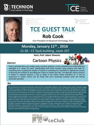 TCE Guest Lecture (Part I): Cartoon Physics