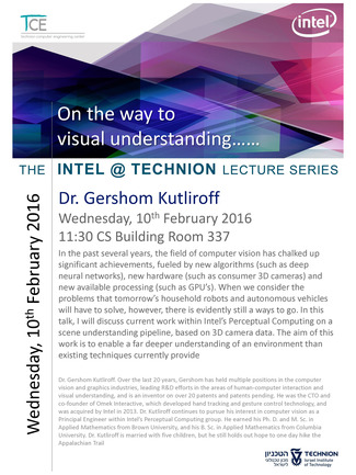 Intel@Technion Lectures: On the Way to Visual Understanding