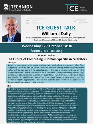 TCE Guest Lecture: Future of Computing – Domain Specific Accelerators