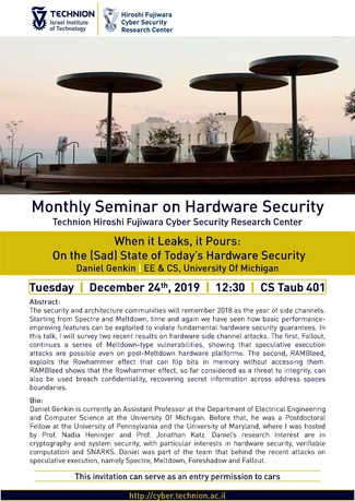 Hardware Security Seminar: When it leaks, it Pours: On the (Sad) State of Today's Hardware Security