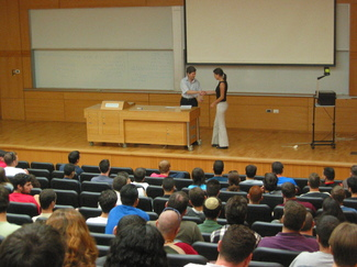29 awards were given to students who excelled in the Technion enrolment scores.