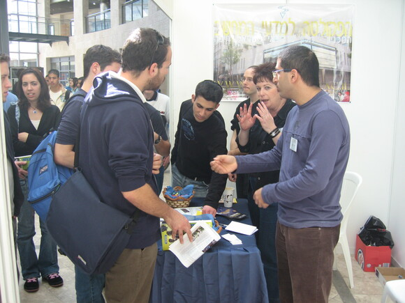 Hundreds of visitors at faculty during Technion's open day, photo 5