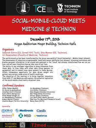 T2med: Social-Mobile-Cloud Meets Medicine @ Technion