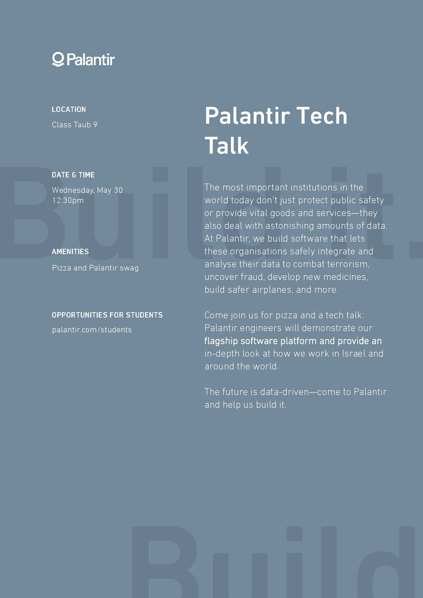 Recruitment Day by PALANTIR | News | Computer Science Department