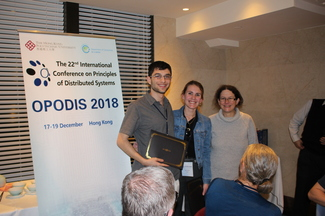 Best Student Paper Award at OPODIS 2018