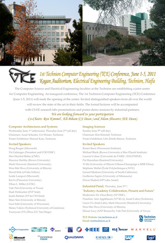 The 1st Annual International TCE Conference (June 1-5, 2011),